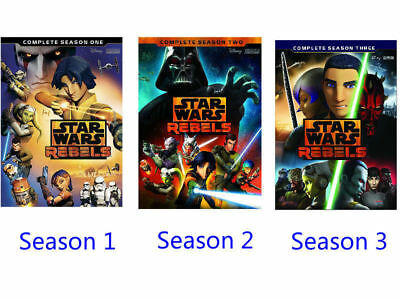 Star Wars Rebels: Complete Season 1 2 3 one two three DVD 4-Disc Set NEW