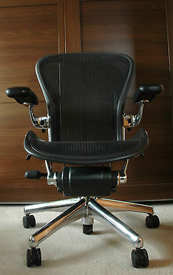* Herman Miller Aeron * Polished Aluminium Executive Chair - Size B - No Reserve