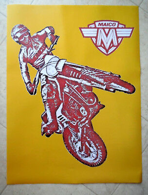 """Vintage Motocross RIDER--Danny MAGOO Chandler RED-18"""" x 24"""" NEW Poster-Maico M1"""