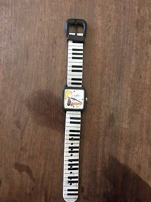 Peanuts Smart Schroeder Playing Piano Armitron Watch Highly Collectable