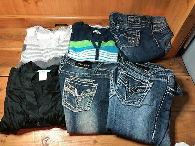 Women's Lot Of 6 Designer Clothes & Jeans - Size 0- 25/Small- Very Nice!