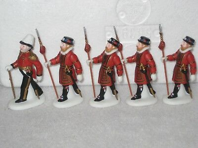 Yeomen Of The Guard Set Of 5 Department 56 Dickens Village 1996 58397
