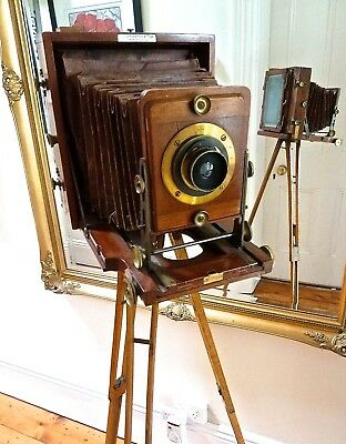 Antique Plate Camera made by Lancaster & Son, Birmingham in 1890's