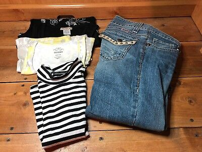 Women's Lot of 4 Clothes Lot Size 1long /Small) Cruel Jeans & Tank Tops-Nice!