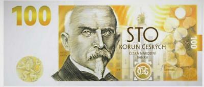 100 Korun Czech republic UNC 2019 FIRST CZECH COMMEMORATIVE BANKNOTE EVER, RARE