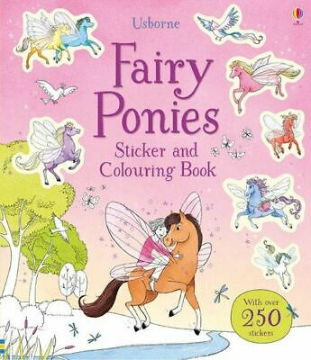 NEW Fairy Ponies Sticker and Colouring Book By Lesley Sims Paperback