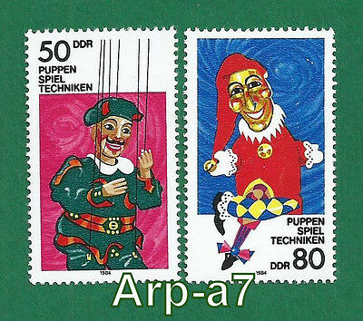 DDR - East Germany series of stamps Mi:2876/77MNH ** Theatre Puppets 1984
