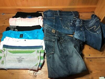 Women's Lot Of 9 Designer Clothes & Jeans - Size 2/3-(26) Small- Very Nice!