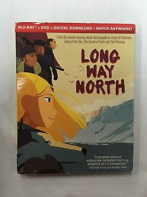 LONG WAY NORTH (BLU-RAY+DVD+DIGITAL DOWNLOAD) New With Slip Cover