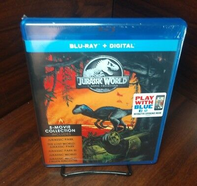 Jurassic World: 5-Movie Collection (Blu-ray+Digital) NEW-Free S&H with Tracking