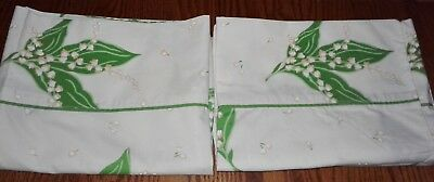 Vintage Christian Dior Lilly of the Valley Pillowcases (2) - Wamsutta Mills~VGC
