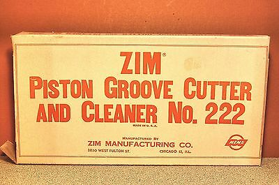 Zim Piston Groove Cutter And Cleaner 222 Nos