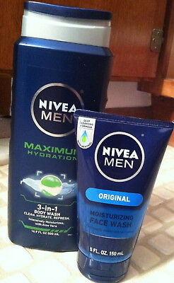 4 New Nivea Items For Men ( Body Wash, Face Wash, Shaving Gel And After Shave)