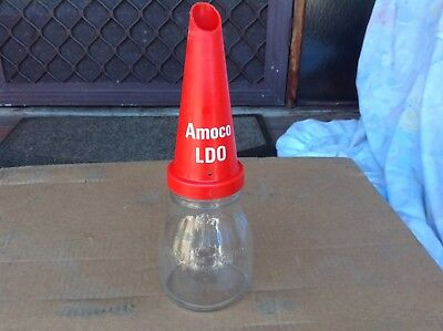 Vintage AMOCO LDO oil bottle