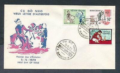 Vietnam 1972 Ancient Letter Writing set cachet unaddressed first day cover FDC