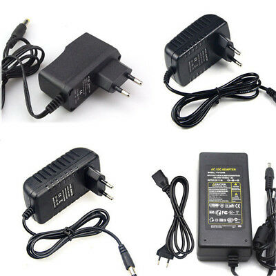 US EU Plug 1A 2A 3A 5A Power Supply Adapter 100V- 240V to 12V Light Transformer