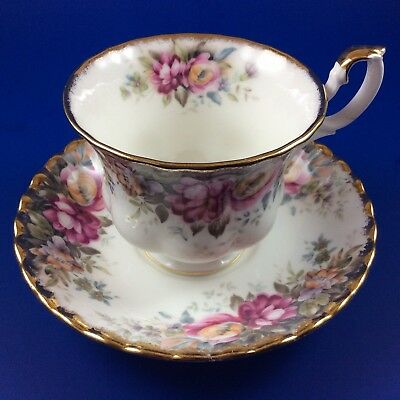 Royal Albert Autumn Roses Bone China Tea Cup And Saucer - 4 Sets Available
