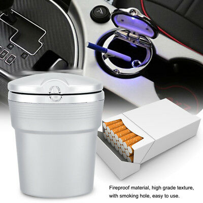 Portable Car LED Ashtray W/ Lid Cup Holder Travel Auto Cigarette Smoke Remove