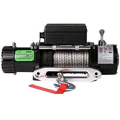 Synthetic Rope Waterproof Winch - 13000 Lb. Load Capacity Automotive