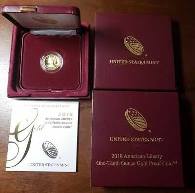 2018 American Liberty Gold High Relief (1/10 oz) Proof $10 in OGP. Great Price,