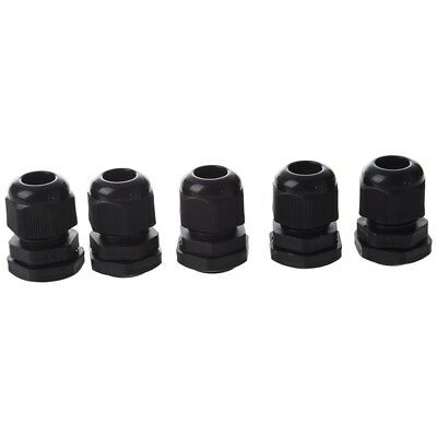 5 Pcs Waterproof PG11 Black Plastic Cable Glands Joints A9G5
