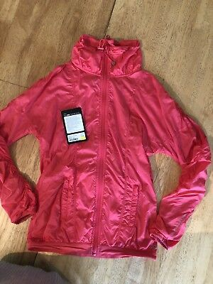 Lorna Jane Alexis Active Lightweight Jacket In Watermelon Size Small