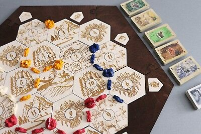 Laser Engraved Wooden Settlers Of Catan Hex Game Board 8184