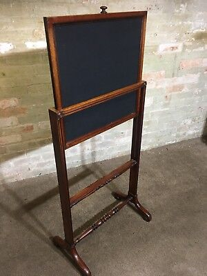 Antique Vintage Rosewood Pull Up Fire Screen . Delivery Available