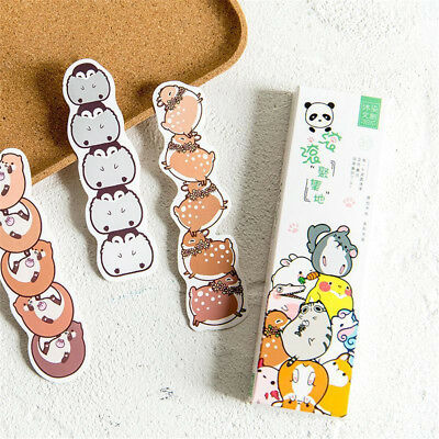 Cartoon Cute Animals Paper Bookmark School Stationery Kids Gift Message Card Hot
