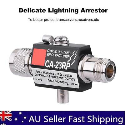 Coaxial Lighting Surge Protector 400W Lightning Arrestor DC-2500MHz 50Ω Female