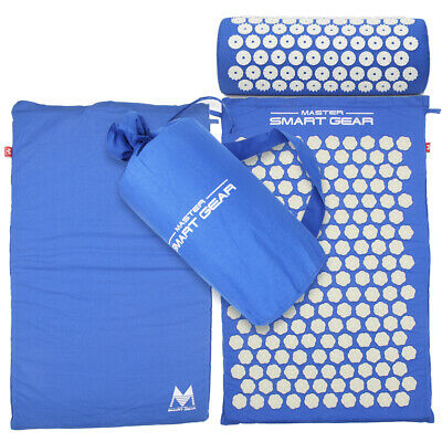 Lotus Acupressure Mat with Pillow Set Back Neck Pain Stress Tension Muscle Relax