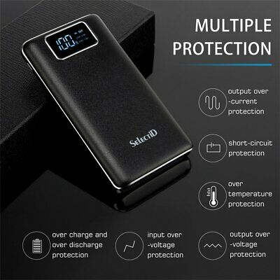 Portable 100000mAh LCD Power Bank External 2 USB Battery Charger For Cell Phone