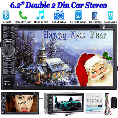 "Double DIN 6.2""Car Stereo Radio CD DVD MP3 Player AM/FM/USB/SD In dash Bluetooth"