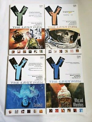 Y THE LAST MAN  lot Volumes 2, 3, 4 and 10