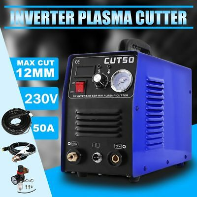 230v 50Amp Plasma Cutter Machine Steel Copper Dc Inverter Digital & Consumables