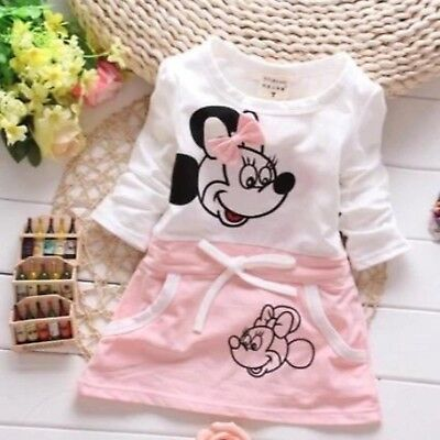 Minnie Mouse Pink Girls Cute Dress Girls Clothes Dresses For infants 3-24 months