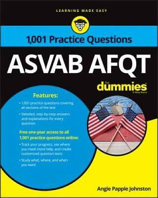 1,001 ASVAB AFQT Practice Questions For Dummies by Papple Johnston, Angie