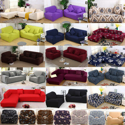 Fit Stretch Home Sofa Covers 1/2/3/4Seater Couch Cover Luxury Slipcovers AU Ship