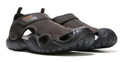 a310fad66a2c Men s Crocs SWIFTWATER Espresso Black 15041-22Z Mesh Rugged Sandals Shoes