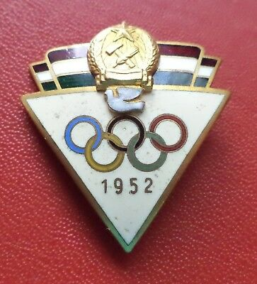 Hungary 1952 Official Olympic Team Badge medal