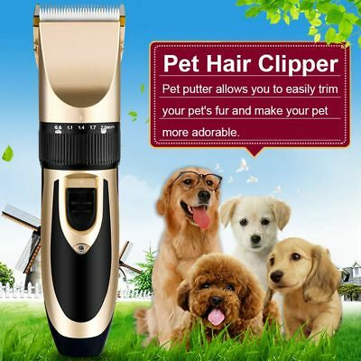 Professional Mute Pet Cat Dog Hair Clipper Trimmer Shaver Cordless Scissors Set