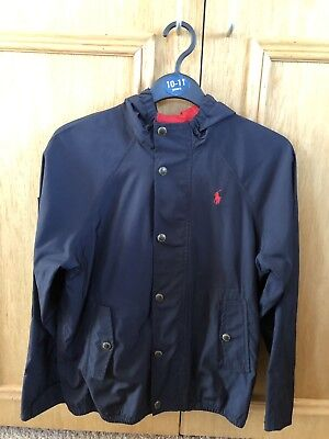 Boys Polo Ralph Lauren navy blue jacket coat, age 10 - 12 years