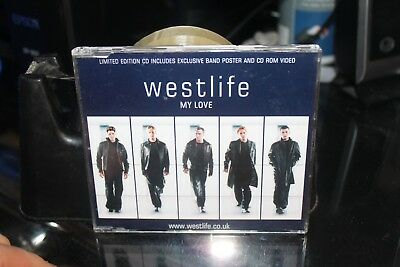 WESTLIFE - MY LOVE - LTD EDITION CD SINGLE - with POSTER  (BOX G4)