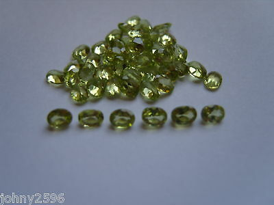 4x3 oval cut peridot loose gemstones,2 stones for £1.50p