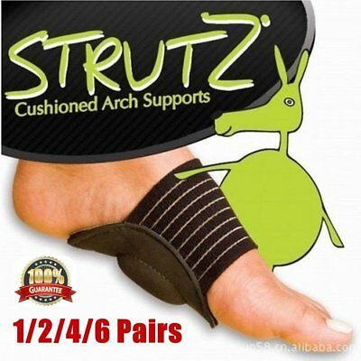 4/6Pair Foot Heel Pain Relief Plantar Fasciitis Insole Pads & Arch Support Shoes