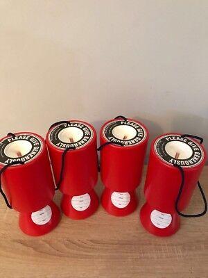 Red Handheld Charity Donation Collection Money Boxes X4