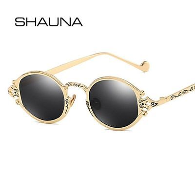 71a3a9662e3 Small Gothic Sunglasses Vintage Oval Steampunk Metal Glasses Unisex Royal  Retro