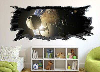 One Direction Music 3D Cracked Wall Effect Wall Sticker Art Decal Mural 1281