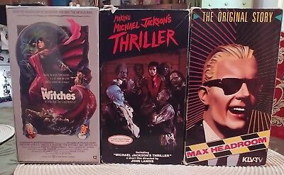 Vintage Vhs Lot Horror & More The Witches/thriller/max Headroom Rare
