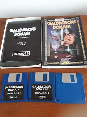 Vintage Commodore Atari St / Amiga Game GALDREGONS DOMAIN by Pandora 1988